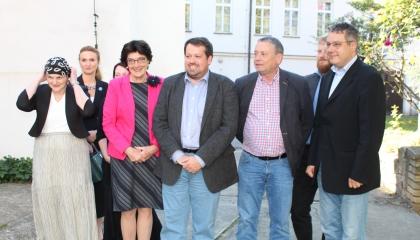 předsedkyně Akademie věd ČR  prof. Eva Zažímalová navštívila Archeologický ústav