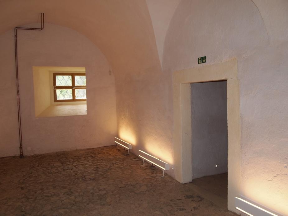 Zámek Hradiště, nově rekonstruované sklepní prostory východního zámeckého křídla. Autor: J. Bouda.