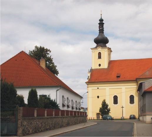 Blovice, kostel sv. Jana Evangelisty. Autor: J. Bouda.