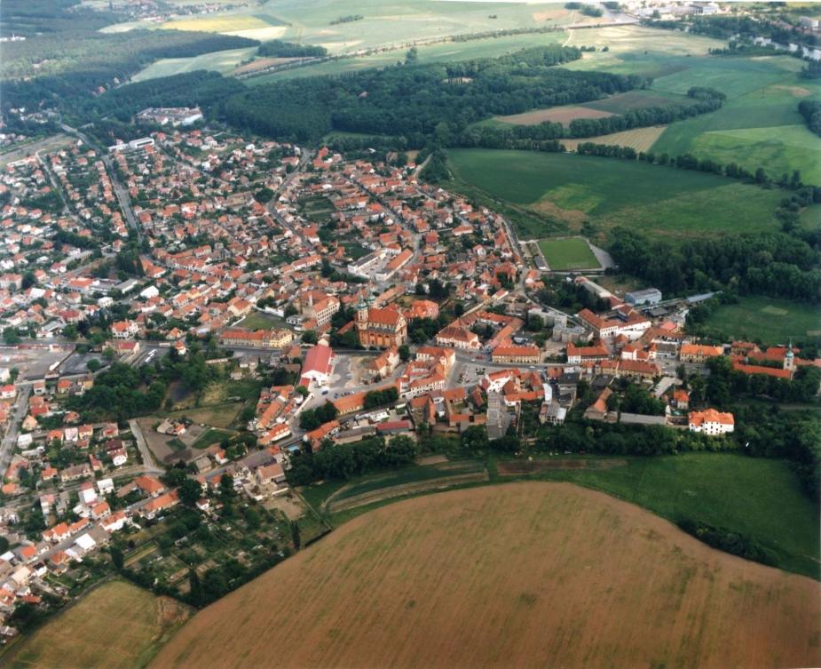 Stará Boleslav letecká fotografie.