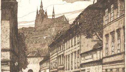 nová virtuální výstava o historii budovy Archeologického ústavu v Praze